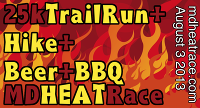 25kTrailRun + Hike + Beer&BBQ = MD HEAT Race